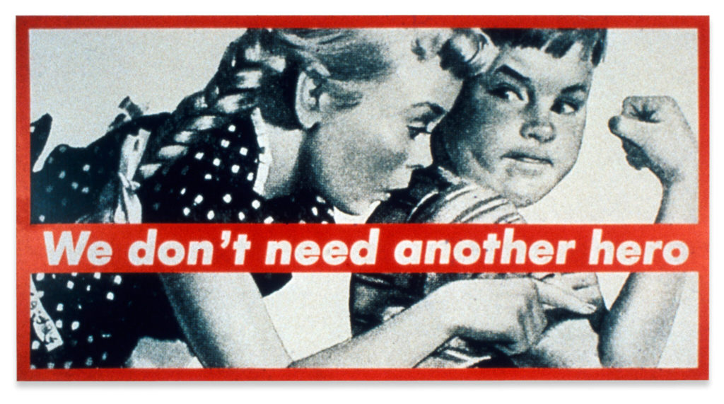 Barbara Kruger is a genius. Futura Bold Oblique.