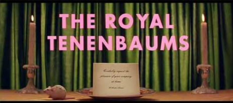 The Royal Tenenbaums title card with Futura Bold. The kerning between the O and Y is a bit iffy, now that I look at it again.